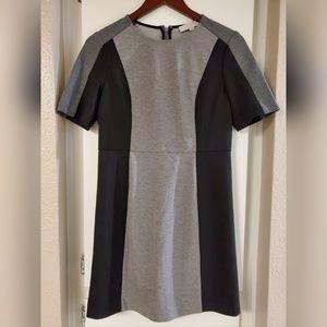 Ann Taylor Loft Gray & Black Color Block Dress 6P
